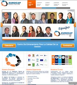 Pagina Web EUROCAP Capacacitacion
