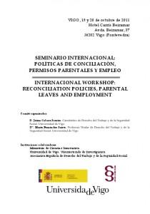 International Workshop Politicas Concilicacion, Permisos Parentales y Empleo