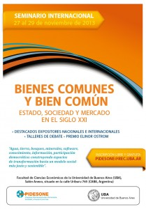 seminario internacional bienes comunes uba 2013